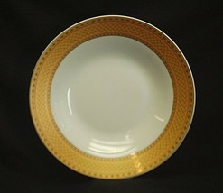 "Alpine Cuisine 8"" Soup Bowl w Gold Geometric Designs Fine Porcelain Germany - $14.84"