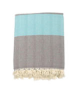Throw Blanket | Green Turquoise & Grey | 200x240 cm - $59.22