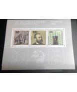 Germany Stamps Minisheet Block Weltkongress 1984 Hamburg MNH - $2.48