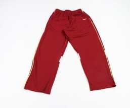 Vintage Nike Mens Large Travis Scott Mini Swoosh Zip Cuff Sweatpants Pan... - $48.46
