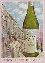 Lejon The Art of Sharing Chablis Wine Bottle  1983 AD - $14.99