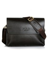 POLO FEILUN Men's Genuine Leather Shoulder Bag Messenger Crossbody Bags ... - $64.58