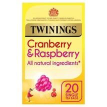 Twinings Cranberry & Raspberry Tea Bags 20 per pack - $5.39