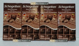 Four pack: Schogetten Dark Chocolate with Cocoa Cream and Hazelnuts x4 - $22.00