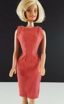 Barbie Clone Darted Waistline Sheath 1960s Dusty Peach Color Clothing - $14.84