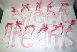 Sweet Dreams Pink Gingham Individual Ribbon Han... - $28.71