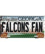 Falcons Georgia State Background Metal License Plate Tag (Falcons Fan) - $11.35