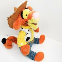 """Disney Store Sheriff Tigger as Woody Cowboy Toy Story 15"""" Winnie the Pooh Doll - $19.62"""
