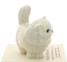 Hagen-Renaker Miniature Ceramic Cat Figurine Fat White Persian image 2