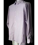 Men's Long Sleeve Casual Dress Shirt Van Heusen Size 17 34 35 Lavender W... - $10.99