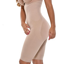 Women's Seamless High Waist Thigh Slimmer Tummy Control Shapewear Beige Short image 2