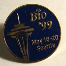 Bio '99 Lapel Pin - Vintage 1999 Seattle Washington Space Needle Confere... - $19.80
