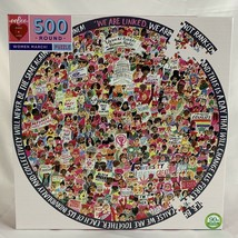 eeboo Women March Jigsaw Puzzle 500 Piece Round Human Rights Love - $43.53