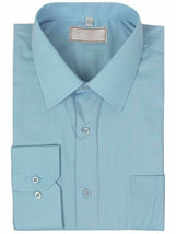 Men's Solid Long Sleeve Formal Button Up French Convertible Cuff Dress Shirt image 10