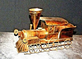 Metal Train Engine Music Box AA19-1504 Vintage image 1