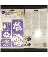 Wilton Flowers Purple Cake Stamp 6 Piece Set Design Decorating Supplies ... - $10.99