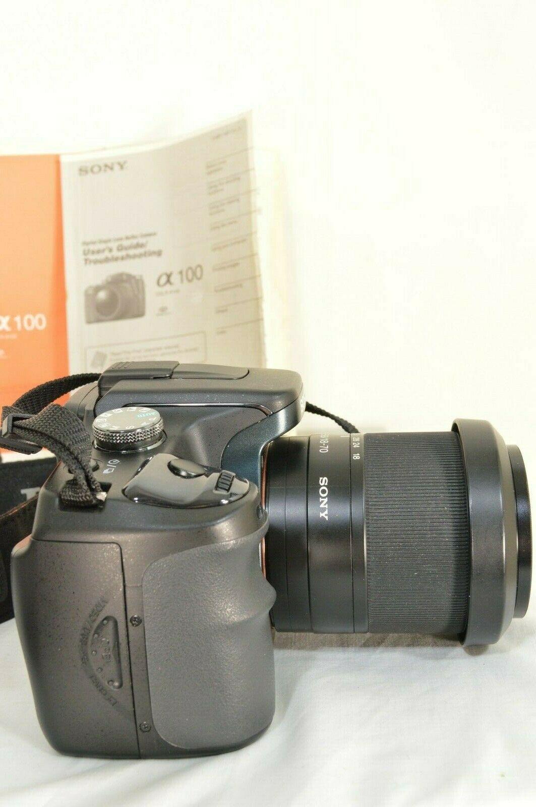 Sony Alpha a100 10.2MP Digital SLR Camera - Black (Kit w/ DT 18-70mm Lens) image 6