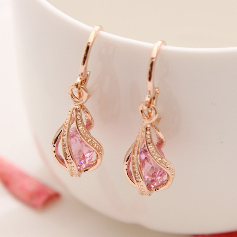 Primary image for AAA Cubic Zirconia Classic Big Drop Crystal Earrings with Tiny CZ Luxury
