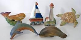 6 Unique Nautical Seashore Themed Wooden Napkin... - $16.93