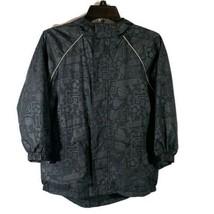 The Childrens Place Boys Sports Windbreaker Hooded Jacket Black Size Medium 7/8 - $19.60