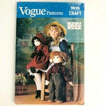 "Vogue Stuffed Doll & Clothing Craft Sew Pattern 9669 Uncut 22"" Boy Girl ... - $9.79"