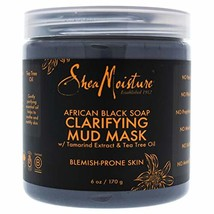 Shea Moisture African Black Soap Clarifying Mud Mask for Unisex, 6 Ounce - $21.67