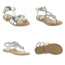 Toddler Girls'  Metallic Silver or Pink Sandals, Cora, Kora, or Nora.ass... - $12.99