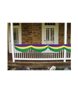 "Beistle Party Decoration Mardi Gras Fabric Bunting 5' 10"" - 6 Pack (1/Pkg) - $77.29"