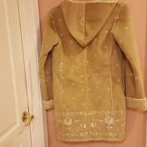 GAP GIRLS FAUX SUEDE BEIGE COAT XXL 14-16 with embroidery image 11