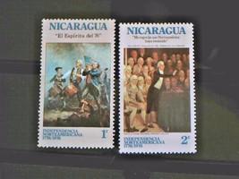 Nicaraqua Set of 2 Stamps MINT -canceled - MNH Free Shipping # 002123 - $1.68