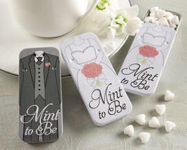 12 Mint to Be Bride Slide Mint Tins with Heart Mints Bridal Shower Favors - ₨1,500.02 INR