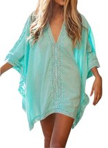 Womens Oversized Loose Fit Lace Swimwear Cover-Ups - ₹1,433.12 INR