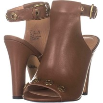 Coach Eddison 102 Peep Toe Booties 277, Lion, 9.5 US / 40 EU - $97.91