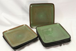"""Home Trends Rave Green Square Salad Plates 8.75"""" Lot of 8 - $88.19"""