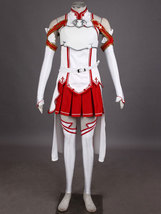 Sword Art Online Asuna Halloween Cosplay Costume Outfit Gown Dress - $90.99+