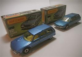 2  Vintage 1979 Matchbox Lesney Citroën CX#12 Different Variation Blue  ... - $47.69