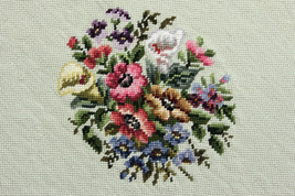 Finished Handmade Needlepoint Tapestry Fabric F... - $40.51