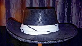 Vintage Black Woven Panama Hat Band Seifter Associates, Inc Size Medium - $38.75