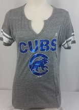 MLB Authentic Brand New Majestic Fan Fashion Women's Chicago Cubs T-Shir... - $12.19