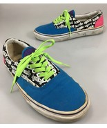 Vans Off the Wall Womens 9.5 Custom Design Canvas Gym Shoes Sneakers Kicks - $43.61