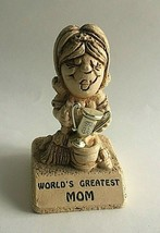 World's Greatest Mom Statue By Paula W-135 Figurine 1970, Mother's Day 4... - $9.31