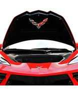 C8 Corvette Trunk Crossed flag Metal Under Lid Frunk Emblem Fits: 2020 +... - $58.90