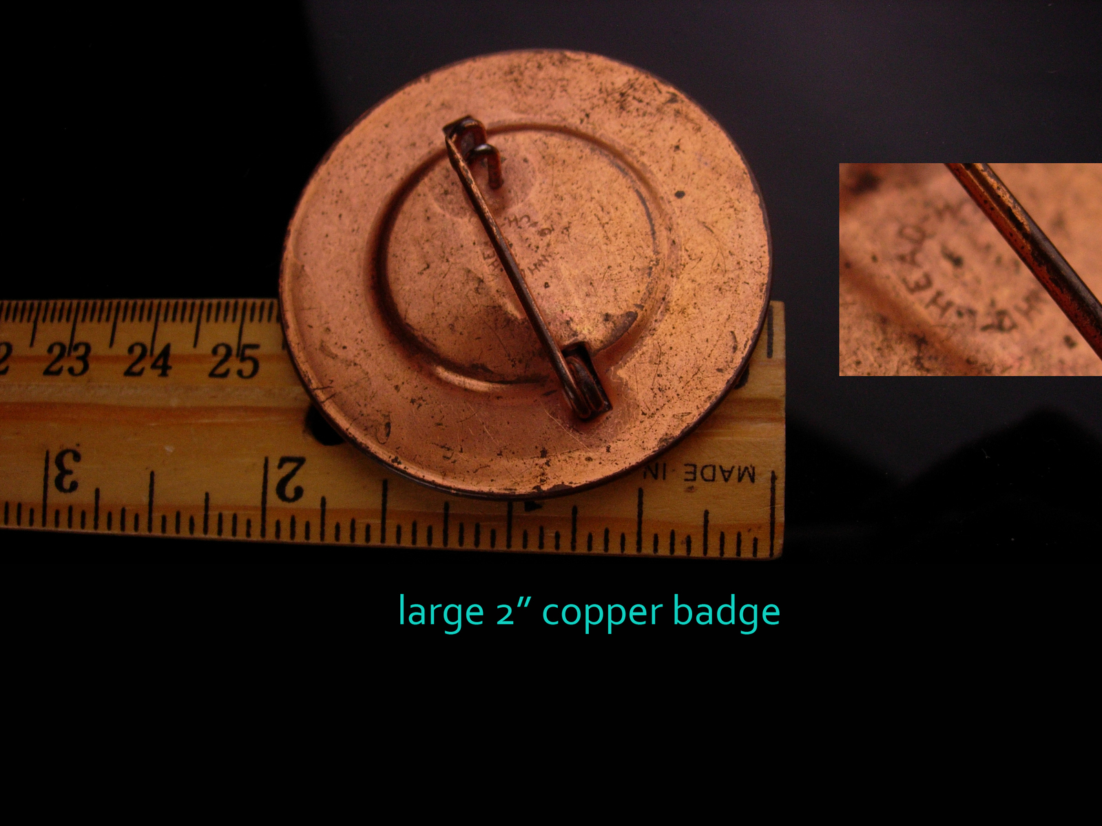 WW11 Navy photo badge - Vintage Naval Section base - Moorehead - Tompkinsville 2