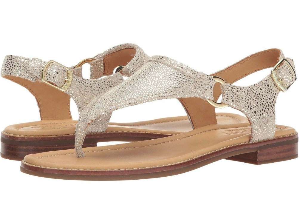 Sperry Top-Sider Women's Abbey Platinum Sandal SIZE 9.5 M