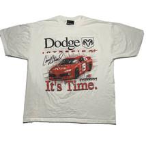 Vintage Y2K Chase Authentics Dodge Intrepid Its Time Nascar T Shirt Mens... - $34.93
