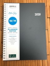 Double Spiral Blue Sky Jan - Dec 2020 Tabbed Monthly Weekly Planner Agen... - $22.76