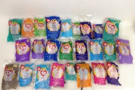 New 1998 McDonald's Happy Meal Toys Lot of 25 Ty Beanie Baby Plush Stuff... - $34.60