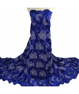 New High Quality Swiss Voile Lace In Switzerland Blue Latest African Lac... - $79.99