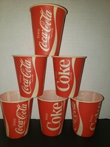 6 Enjoy Coca Cola Classic Sample 4 oz Waxed Soda Cups Old Unused Store Stock - $15.99