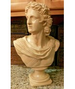 LARGE 1970'S Apollo Belvedere Bust Plaster Statue - WARM Antiqued IVORY ... - $59.39